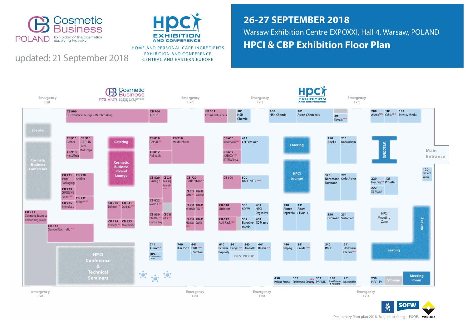 HPCI CEE Floorplan 2018