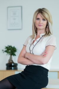 Portrait of Zsuzsanna Szak the new head of beauty care at Henkl Hungary
