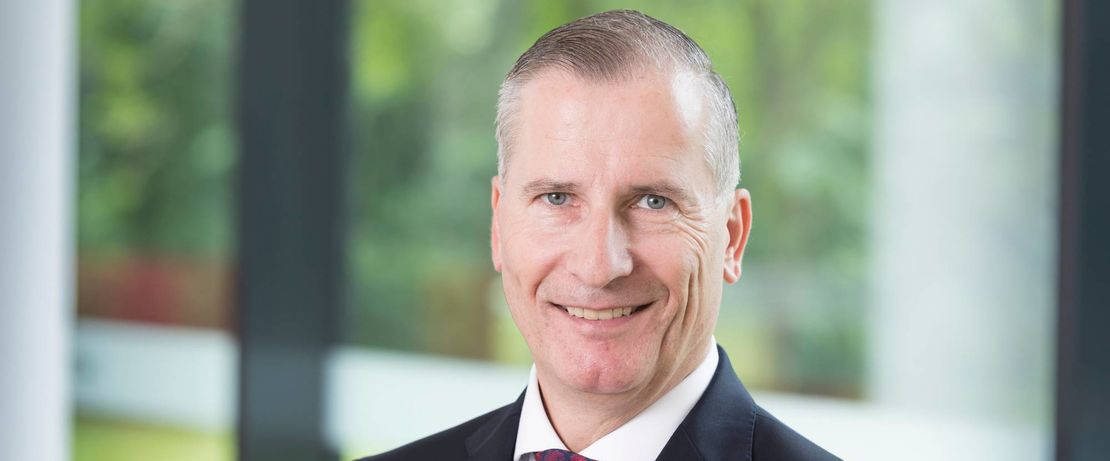 Portrait of Andreas Fischer, the new chief innocation officer at Evonik