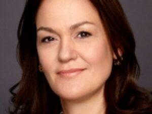 Portrait of Geroriga Garinois Melinkitou, Executive Vice President at Estée Lauder who will retire in July 2020