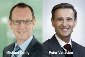 Portrait fotos of Michael Köning and Peter Vanacker, new Memebr of the Supervisory Board of Symrise AG